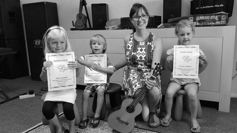 Jessica Rog - muziekdocent voor de kinderlessen